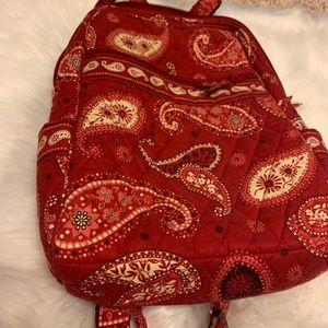 Red Paisley Mini Vera Bradley backpack!
